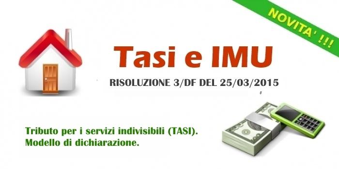 Dichiarazione TASI