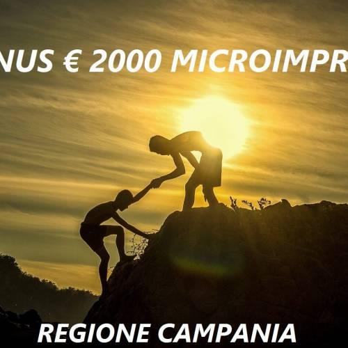 Emergenza Covid 19 – Bonus € 2.000 Regione Campania